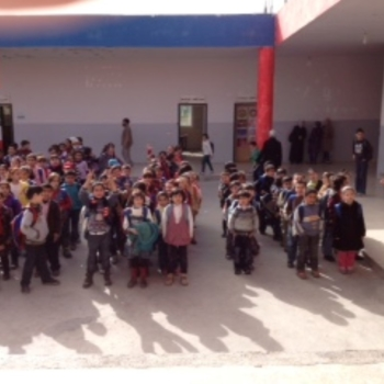 In der Schule on Majdal Anjar