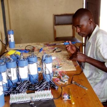 Produktion der Solarlampen